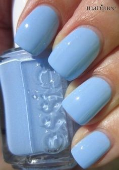 Essie Nail Polish - Light Blue I'm almost positive this is bikini so tiny.my all time favorite Essie color! Gorgeous Nails, Love Nails, How To Do Nails, Pretty Nails, My Nails, Amazing Nails, Glitter Nails, Nagellack Design, Nagellack Trends