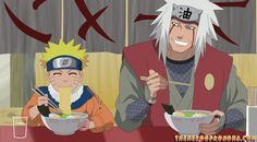Naruto-and-Jiraiya-eating-ramen-at-Ichiraku