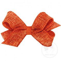 Mini soft burlap bow.