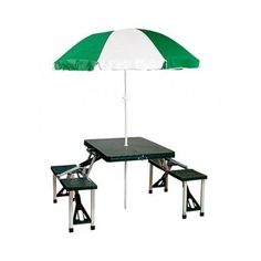 Folding Picnic Table Portable Umbrella Set Patio Outdoor Furniture Chair Bench for sale online Picnic Table With Umbrella, Outdoor Picnic Tables, Folding Picnic Table, Patio Tables, Folding Tables, Patio Dining, Dining Table, Folding Furniture, Survival Skills