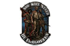 Vietnam Soldier You Will Never Be Forgotten Reflective Decal from Mustang Loot