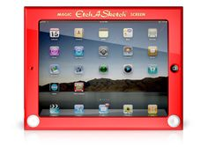 Etch A Sketch® protective cases  for iPad and iPhone    Be the coolest kid in the conference room.
