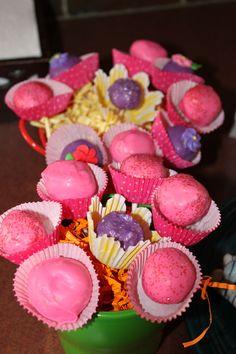 cake ball flowers