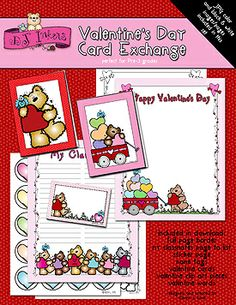 Bring a snugly Valentine smile to your classroom, daycare or playgroup with DJ's 'Valentine's Day Card Exchange!' This kit includes everything you need to have a sweet & successful card exchange with the kiddoes. :)