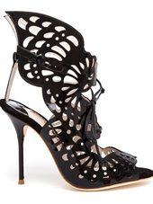 Sophia Webster - Electra Laser Cut Patent Leather Sandals