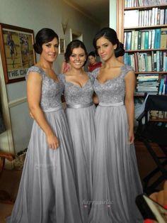 Lang Ballkleid Abendkleid,Hochzeitskleid Brautkleid,Brautjungfer Gr:34-46