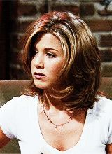 Friends gifs and funny stuff — Rachel Green perfect hair moments