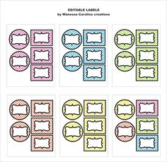 FREE Editable Lables in PDF  Cute, cute, cute patterns that will go w/ a polka dot theme (YELLOW)