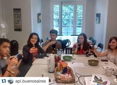"""#Repost @api.buenosaires API spring students trying Mate our """"drink of friendship"""" #ispyapi #apistudyabroad #studyabroad by apiabroad"""