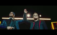 The Hunger Games Official Trailer: Caesar and Peeta on stage in the Capitol