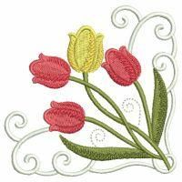 Tulips In Bloom - Wind Bell Embroidery | OregonPatchWorks