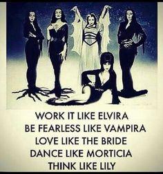 Halloween-Elvira, Vampira, The Bride, Morticia, and Lily Goth Quotes, Dark Quotes, Creepy Quotes, Funny Quotes, Samhain, Religion, Halloween Quotes, Pagan Halloween, Halloween 2018
