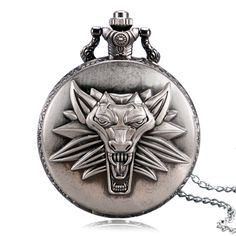 Top Game Theme The Witcher 3 Wild Hunt Vintage Pocket watch Men Chain Boy Pendant Gift 2016 Popular Relogio De Bolso