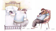 世界中を温かいキモチにさせた、「パパと娘の日常」を描いたイラスト13枚 | TABI LABO