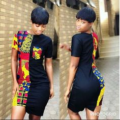 beautiful plain and patterned ankara gown styles for ladies, colourful and sexy ankara dress styles for curvy ladies Short African Dresses, Ankara Short Gown, Ankara Gown Styles, Short Gowns, African Print Dresses, Dress Styles, Short Casual Dresses, Casual Gowns, Trendy Dresses
