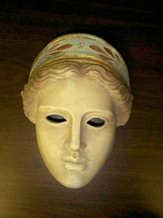 ANCIENT GREEK THEATRICAL MASK OF GODDESS ARTEMIS