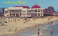 Santa Cruz postcard with Cocoanut Grove and Casino 1950s by hmdavid, via Flickr