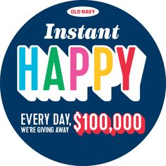 Win $100,000 from Old Navy & Over 3 Million Instant Win Prizes