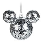 Buckle up, because you're in for some Christmas cheer with this set of four Mickey Mouse icon ornaments decorated with glittering Mickey ears and a Santa belt. They're a wonderfully magical addition to your tree. 'Tis the season!