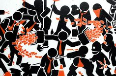 The Sound of Stenciling: A Video on the Making of a Stencil Painting by Pahnl