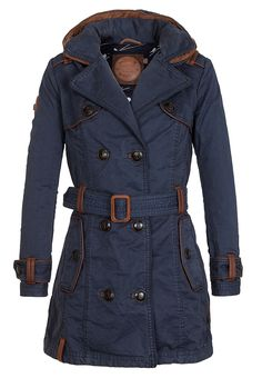 Naketano – Brave New Word   One for All II Dark Blue Damen Trenchcoat,  Jackets 927f933ffe