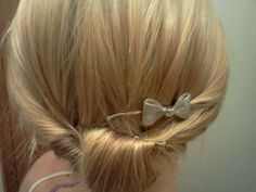 Cool really easy bun for long or short hair