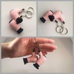 #haken, gratis patroon (Engels), sleutelhanger, föhn, kapper, kapster, #crochet, free pattern, keychain, blowdryer, hairdresser