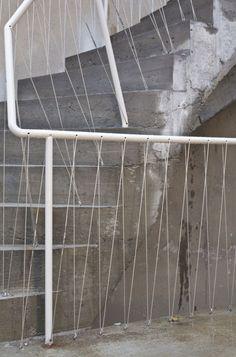 Brunnenstrasse 9 / Brandlhuber - stair, fence