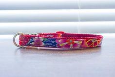 Floral dog collar Custom personalized dog collar pet collar