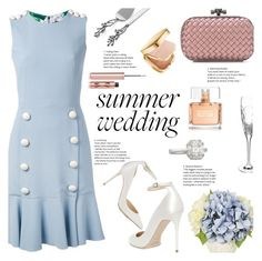 """Something Blue"" by little-curly-juli ❤ liked on Polyvore featuring Bottega Veneta, Dolce&Gabbana, Jimmy Choo, Charlotte Tilbury, Givenchy, Zydo, Waterford, Michael Aram and summerweddings"