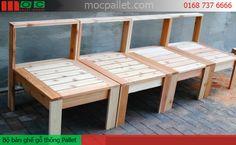 Ghế lưng tựa gỗ thông Pallet G11