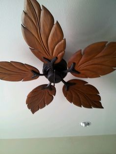 Love This Wooden Leaf Fan