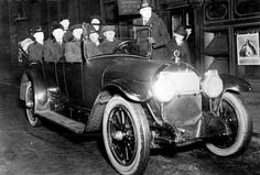 """Chicago Police Department's """"Flying"""" Squad Car, 1920, Chicago."""