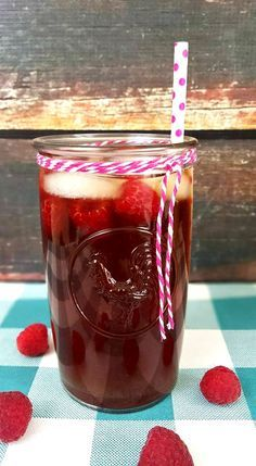 There is nothing like a cup of homemade raspberry iced tea. Keep a batch in the fridge at all times.  You just never know when the breeze will be blowing and your rocking chair will be calling. Pin for Later!