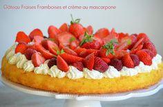 Gâteau fraises / framboises sur crème au mascarpone fouettée KKVKVK # 56 - Le blog de C'est Nathalie qui cuisine