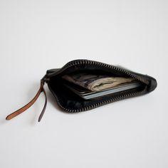 MAKR Zip Slim Wallet – Black Utica – Made in the USA $90