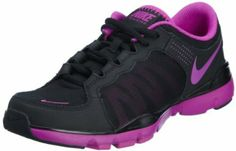Nike Women's Air Flex Trainer II Running Shoe Black/Purple (12) www.