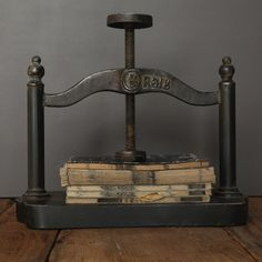 Vintage Reproduction Paper Press - I don't know why but I love this!!