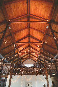 Romantic + rustic barn wedding reception - bistro lights {Lightbloom Photography}