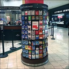 If your Gift Card offering can be approached from any quadrant of then a circular Simon-Says Mall Gift Cards In-The-Round like this is the solution Gift Card Mall, Gift Cards, Visual Merchandising Displays, Simon Says, Carousel, Display Ideas, Liquor Cabinet, Merry Christmas, Island