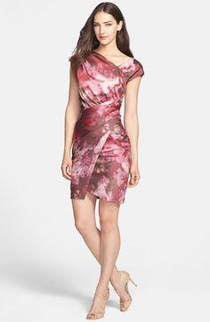 Vera Wang Print Asymmetrical Crepe Sheath Dress available at #Nordstrom