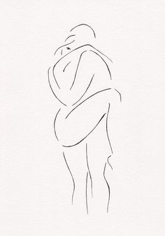 Erotic illustration for bedroom gallery wall sets. Black and white line drawing…