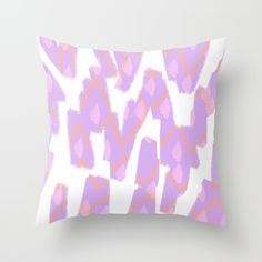 Buy Spring Purple - Abstract Throw Pillow by Allyson Johnson. Worldwide shipping available at Society6.com. Just one of millions of high quality products available.