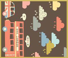 rainy london dish towel fabric by amel24 on Spoonflower - custom fabric - fat quarter on linen canvas