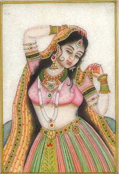 Buy exquisite Marble Paintings at ExoticIndia. Our collection features a wide range of Miniature & Watercolor Paintings on Marble Plates and Tiles. Mughal Paintings, Islamic Paintings, Indian Art Paintings, Pop Art Pictures, Drawing Pictures, Saree Painting Designs, Rajasthani Painting, Jewelry Design Drawing, Fantasy Art Women
