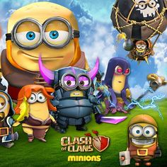 Clash of clans en mode Minions New Clash Of Clans, Clash Of Clans Cheat, Clash Of Clans Hack, Clas Of Clan, Castle Clash, Barbarian King, Dark Spells, Online Photo Editing, Image Editing