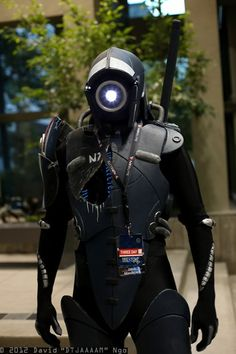 David Ngo's Legion cosplay from Mass Effect (spotted at PAX Prime 2012). How do they see with that giant light in their face?