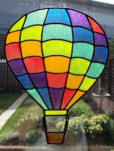 Hot Air Balloon Static Window Cling