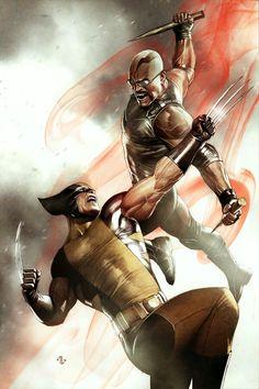 Wolverine vs Blade by Adi Granov