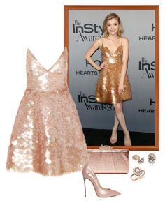 """""""Skyler Samuels – 2016 InStyle Awards."""" by foreverforbiddenromancefashion ❤ liked on Polyvore featuring KOTUR, Monique Lhuillier, Casadei, Marchesa and Bloomingdale's"""